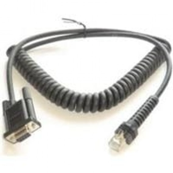 Datalogic PowerScan Cable PWR 9 Pin female RS232, Coiled, 6 ft.