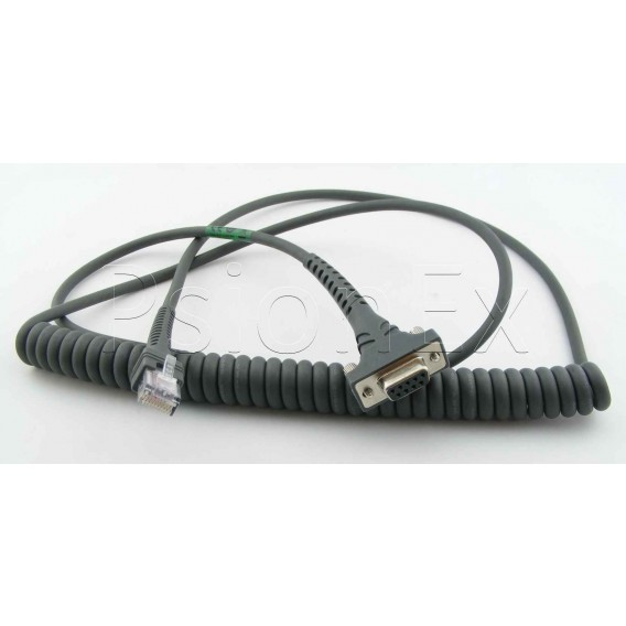 RS232 cable, DB9 Female Connector, 9 Pin, 9ft, coiled