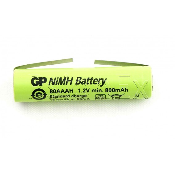 Battery 1.2V, 780 mAh AAA NiMh cell tagged (used in Revo battery pack)
