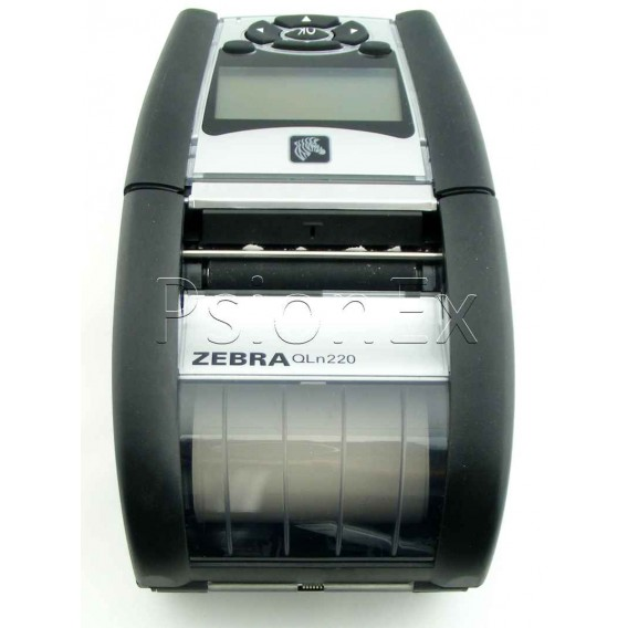 Zebra printer QLn220 direct thermal, Bluetooth, Mfi + Ethernet, Shoulder Strap & Belt Clip