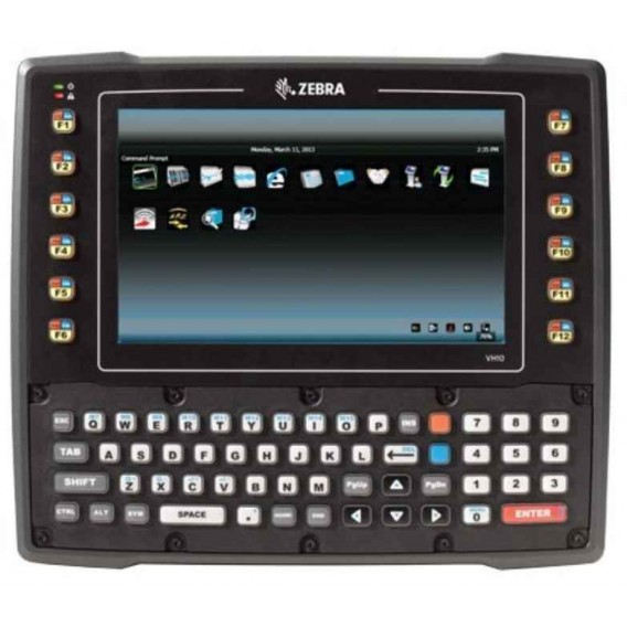 Zebra VH10 vehicle-mount computer, Qwerty, WiFi, PS 12-48V, ext. antenna 2.4 + 5 GHz, UPS