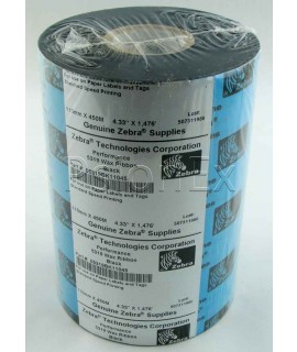 Zebra 5319  wax thermal ribbons 110mm x 450m, box of 6 rolls