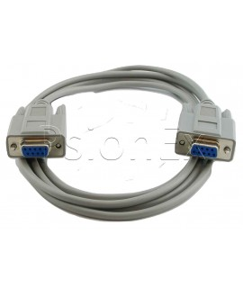 RS232 DB 9 pin female to DB 9 pin female null modem cable