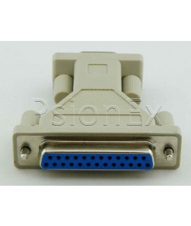 Adapter converter RS232 DB 25 pin female parallel to DB 9 pin male