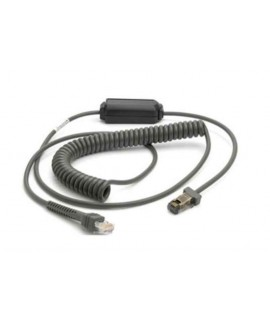 Zebra RS232 Coiled Cable (DB9 Female Connector, 9ft, Power Pin 9)