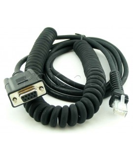 Power scan cable with RS232 end