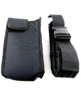 Nylon tool belt pouch with half width velcro fastener