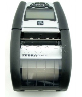 Zebra printer QLn220 direct thermal, Bluetooth, Ethernet, Grouping E, Belt Clip, Shoulder Strap