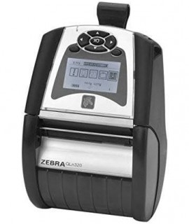 Zebra QLn320 Printer, Bluetooth, Mfi + Ethernet, Shoulder Strap and Belt Clip