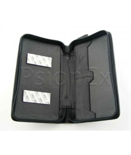 Psion Series 3/5 leather case, black, with zipper
