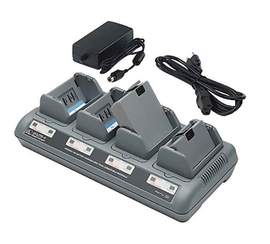 Zebra Lithium-Ion Quad Charger (charges up to 4 batteries), EU, UCLI72-4