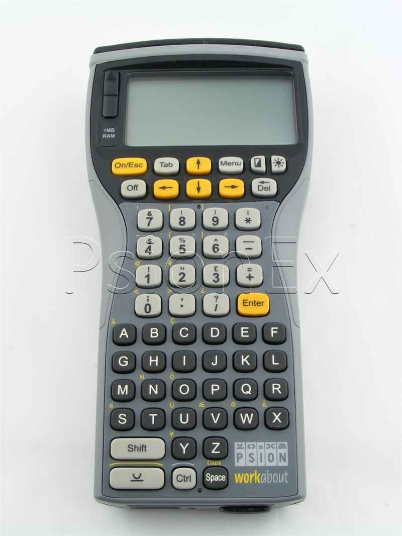 Workabout 1MB, alphanumeric, soft keyboard